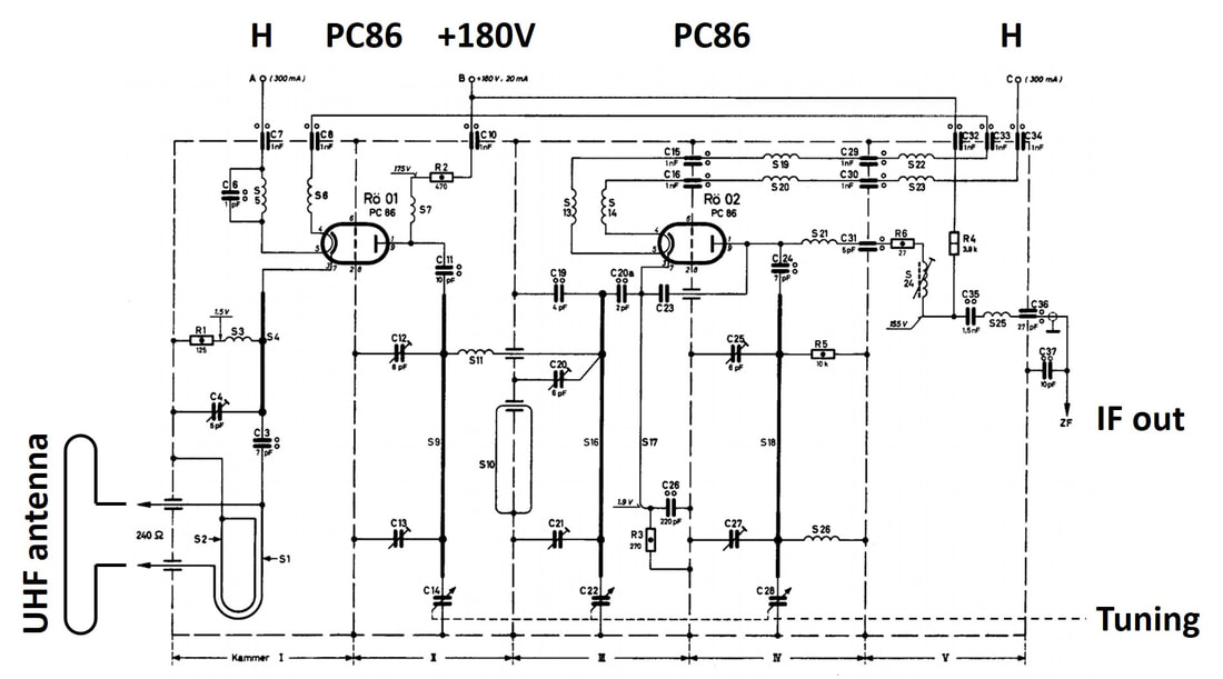 philips 1959 kr 361 60 schematic_1_orig tv tuner history pt2 uhf and transistors k&r performance wiring diagram at mifinder.co